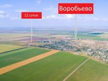Земельный участок, с. Воробьево, 12 соток, угловой