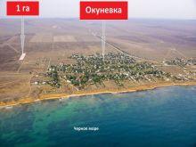 Продается участок 1 га у села Окуневка Черноморского района.